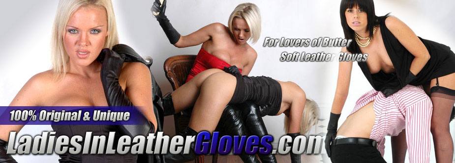 ladies in leather gloves enter page
